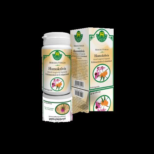 Herbária Homoktövis étrend-kiegészítő kapszula Echinaceával és C-vitaminnal 50 db