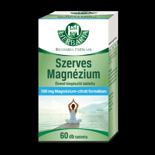 Herbária Szerves Magnézium Étrend-kiegészítő tabletta 60 db