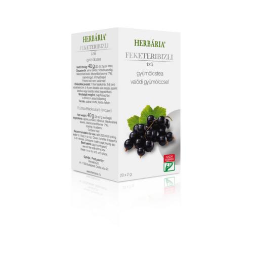 Herbária filteres Gyümölcstea Feketeribizli ízű