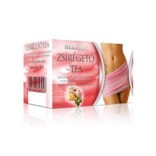 Herbária filteres Zsírégető tea - bergamott ízesítésű filteres gyógynövény teakeverék zöld kávéval és gyömbérrel