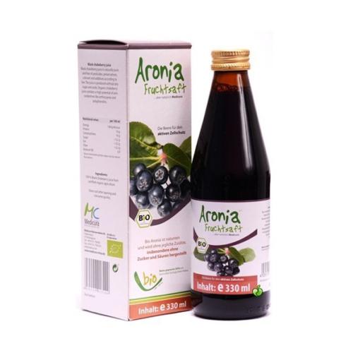Bio Fekete berkenye, arónia 100%-os juice 330 ml