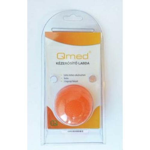 QMED Kézerősítő gél labda kemény, narancssárga