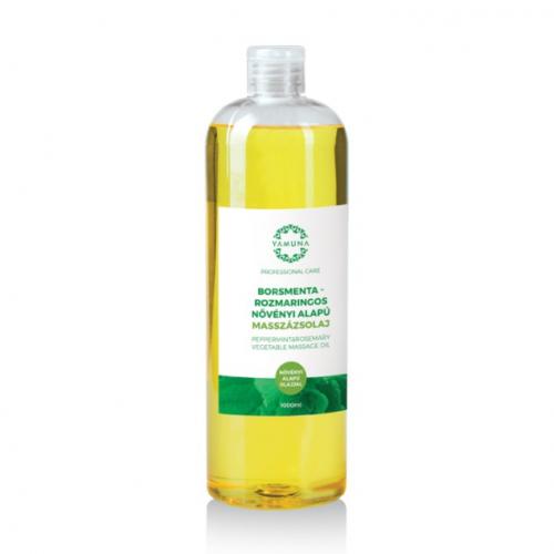 Yamuna Növényi alapú borsmentás-rozmaringos masszázsolaj 1000 ml
