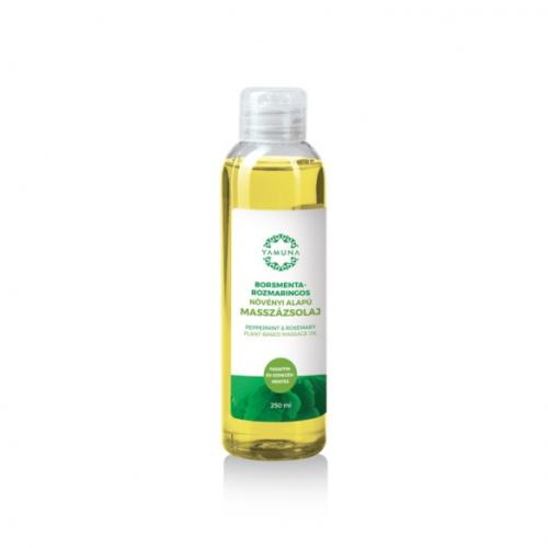 Yamuna Növényi alapú borsmentás-rozmaringos masszázsolaj 250 ml